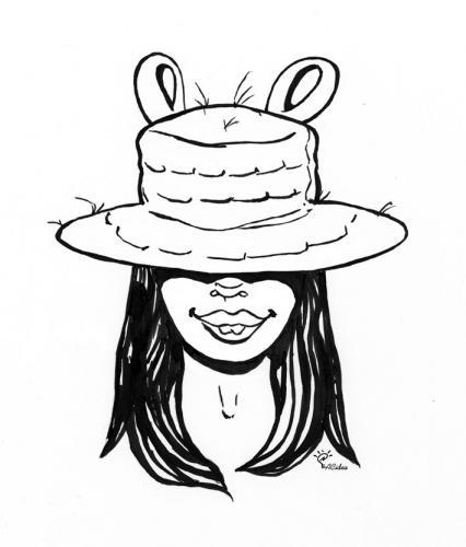 Monica Marghetti in versione topolina creata da ACidea